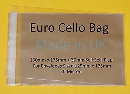 jw Young Menschen Fragen/ selbstklebend /Euro Zellophan Cello Gr/ö/ße 130/mm x 175/mm 30/mm Klappe/ /30/Mikron