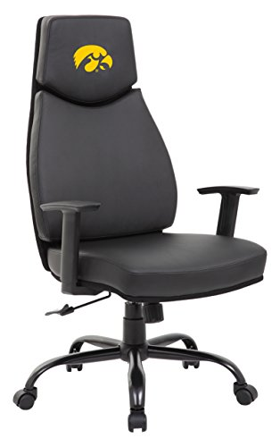 - PROLINE NCAA College Iowa Hawkeyes Leather Office Chair