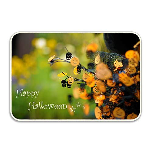 Elvira Jasper Happy Halloween Doormat Indoor Outdoor Rug for Entrance, Door Floormat Shoe Scraper & Rubber -