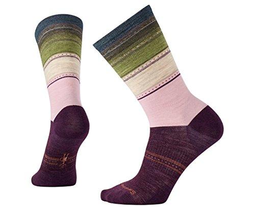 Smartwool Women's Sulawesi Stripe Socks (Bordeaux Heather) Small
