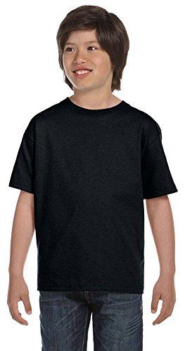 Gildan DryBlend Youth 5.6 oz., 50/50 T-Shirt, Medium, BLACK