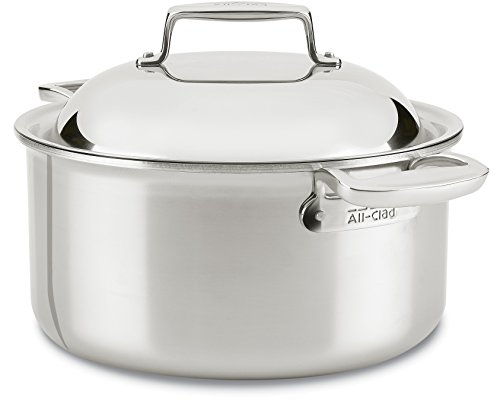 Dishwasher Safe Stainless Steel Dutch Oven (All-Clad SD755086 18/10 D7 Stainless Steel 7-Ply Bonded Construction Dishwasher Safe Oven Safe Round Oven Stock Pot, 8-Quart,)