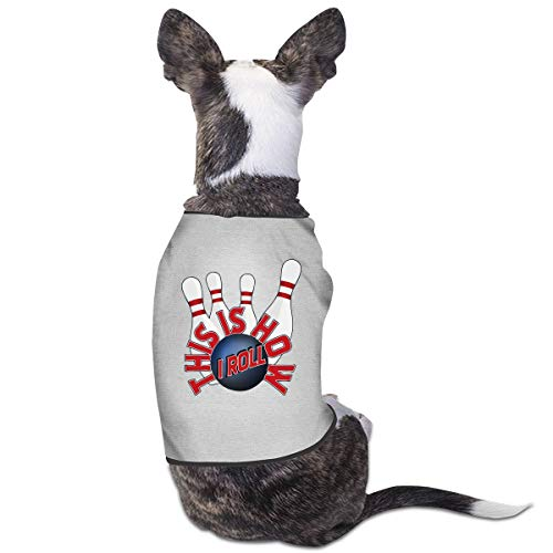 LzVong Bowling Skittle Pet Clothing T Shirts Costume Vest Pet Suit]()