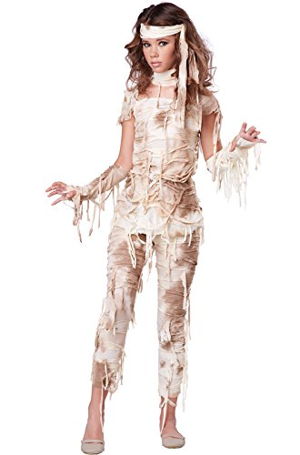 Child Mummy Costumes (California Costumes Mysterious Mummy Tween Costume, Large)
