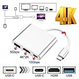 IMAGE New Type C USB 3.1 to USB-C 4K HDMI Adapter 3 in