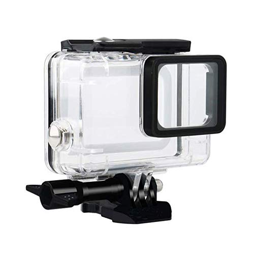 Flycoo étui Boîtier étanche pour GoPro Hero 7 Black/Hero 5 / Hero 6 Caméra d'action Clair avec Vis de Fixation et Base Protection sous-Marine 45M