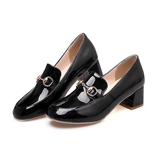 AdeeSu SDC05650 Compensées Sandales Femme Noir xxSPwq