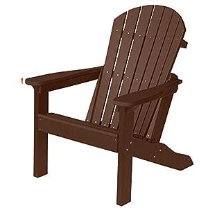 Berlin Gardens Comfo Back Adirondack Chair   Chocolate Brown