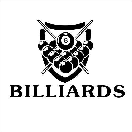 ONETOTOP Billar Billar Snooker Pegatinas de Pared Vinilo Parede ...