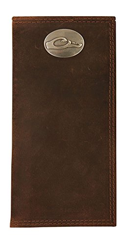 Drake Outdoors DA7007BRN Leather Checkbook Wallet Brown