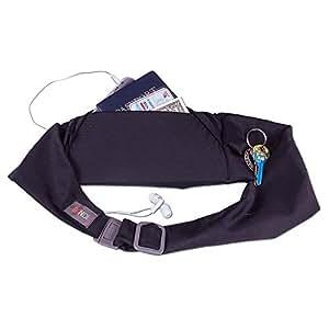 BANDI Unisex Secure Running Belt with Adjustable Straps Large Pocket, Plus Size