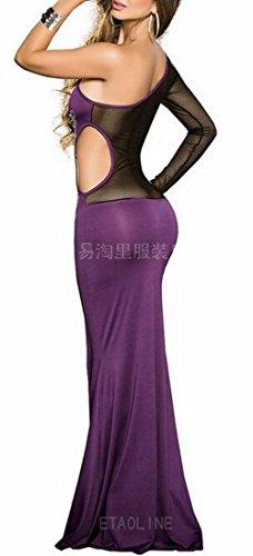 Slim Fit Purple Bodycon Women Sleeveless Wedding Jaycargogo Cocktail Maxi Dress Party H6qZwnFcW