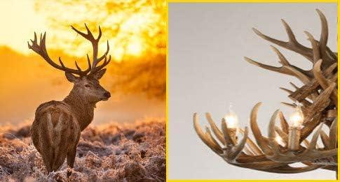 Resin Deer Antlers Chandelier