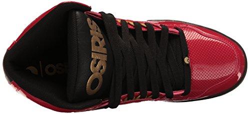 Osiris Mens Nyc Scarpa 83 Skate Rosso / Oro / Nero
