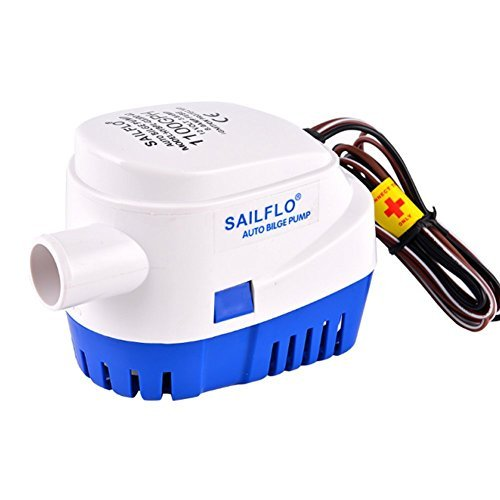 SAILFLO Automatic Submersible Boat Bilge Water Pump 12v 1100gph Auto with Float Switch 1 inch outlet