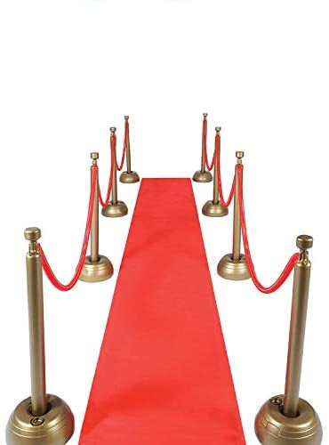 Red Carpet Aisle Runner 24 in × 15 feet Walkway Carpet Floor Aisle Runner for Indoor Outdoor Weddings Prom Theme Party Decorations