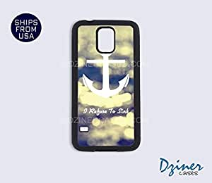 Galaxy Note 3 Case - Anchor I Refuse to Sink (Sparkles print)