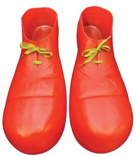 Jumbo Adult Red Clown Shoes (Rubies Clown Shoe 16 Inch Plastic Accessory)