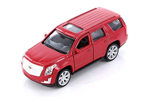 (Welly 2017 Cadillac Escalade SUV, Red 43751D - 1/39 Scale Diecast Model Toy Car but NO Box )