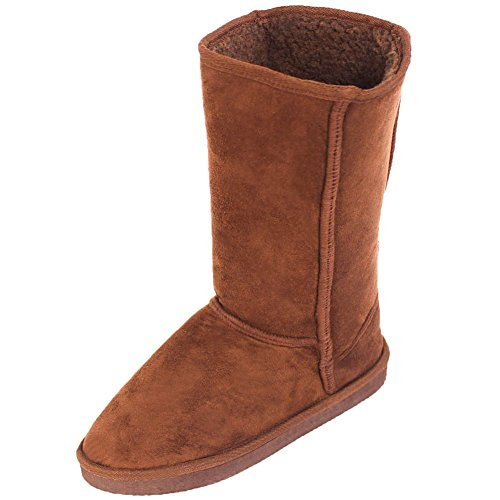 Cammie Women's Classic Faux Sheepskin Fur Winter Boots Brown