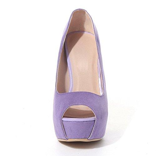 Adee Mujer Pantalones high-heels microfibra Sandalias Morado - morado claro