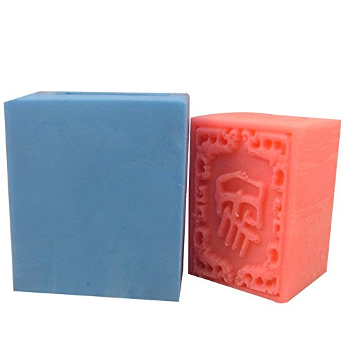 Thick Rectangle Chinese Silicone Soap Bar Mold (Best Chinese Food Dish)
