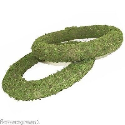Mossed padded wreath rings x 12. Very easy to use - 8