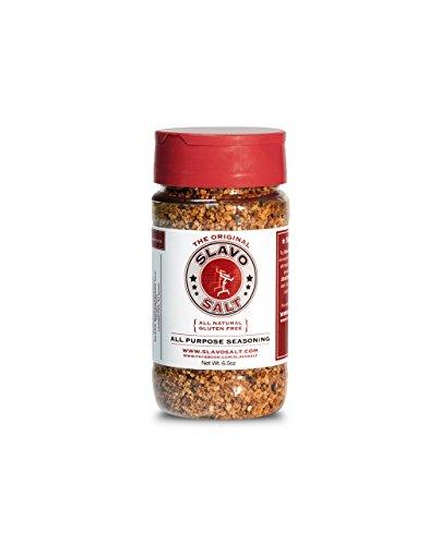 (Slavo Salt All Purpose Seasoning | Fresh Garlic, Kosher Salt, Black Peppercorn | Whole 30, Paleo, and Keto Seasoning, Seasoned Salt (6 oz.))