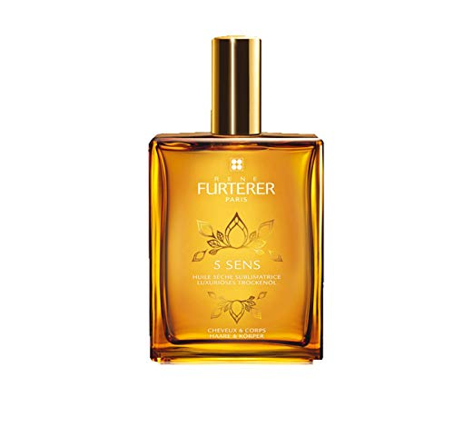 Rene Furterer 5 SENS Enhancing Dry Oil, Multi-Purpose Hair Skin, Jojoba Oil, Spray, 3.3 oz.