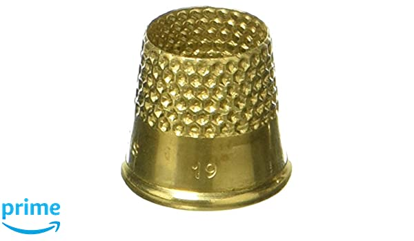 Lacis RQ62 18MM Open Top Tailors Thimble 18mm Brown