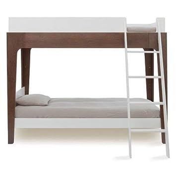 Amazon Com Oeuf Perch Bunk Bed Walnut White Baby