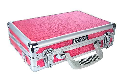 Common Sense Cases Croc - Premium Crocodile Textured SingleDouble Pistol Case - Pink - CASE-1022-CROC-PNK-F -