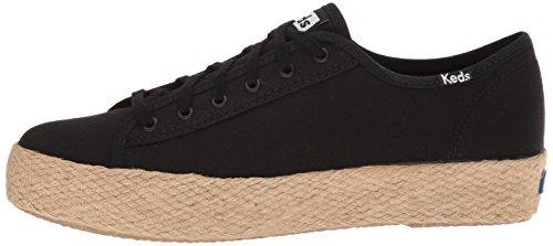 Sneaker Damen Keds Jute Kick Tpl Schwarz Black Black HXanxFa