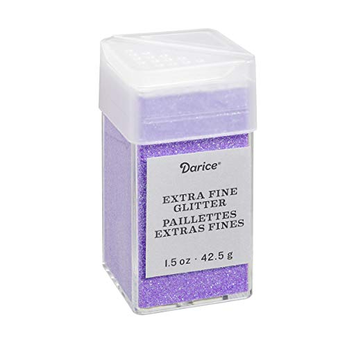Fairy Purple Extra Fine Glitter 1.5 Ounces Canister w/Pour or Shake Lid