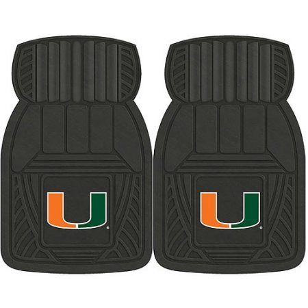 NCAA 4-Piece Front #36572587 and Rear #19888853 Heavy-Duty Vinyl Car Mat Set, University of Miami by Sports Licensing Solutions LLC