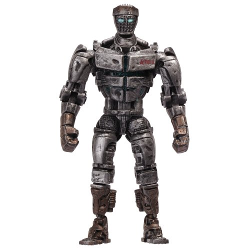 Real Steel Wave 1 Action Figure Atom The Junkyard Bot Lights -