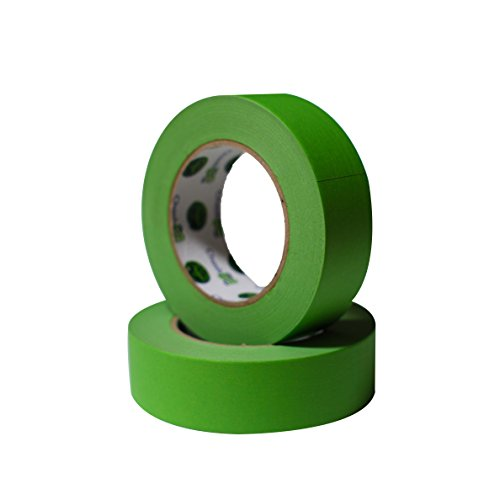 Insta Finish Green Performance Masking Tape - Easy Release Painters Clean Line Tape - Industrial Grade - 1 1/2 Inch x 60 Yards - Box of 24 Rolls Insta Line