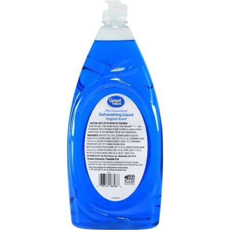 Great Value Ultra Concentrated Original Scent Dishwashing Liquid, 40 fl oz