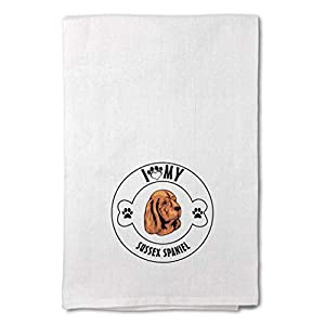 Style In Print Custom Decor Flour Kitchen Towels I Love Paw My Sussex Spaniel Dog Pets Dogs Cleaning Supplies Dish Towels Design Only 36