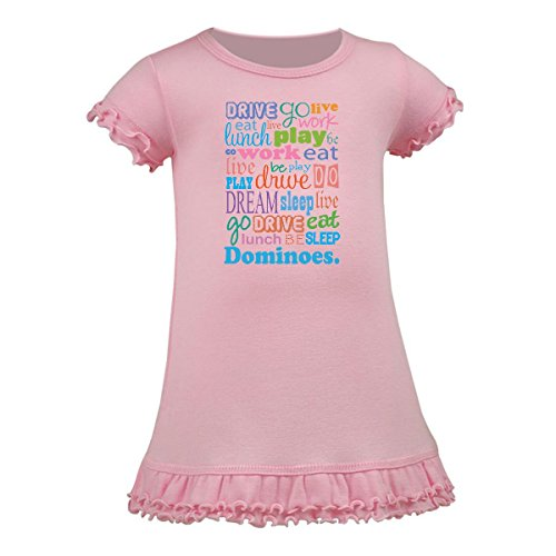 Inktastic - Live Dream Dominoes A-Line Baby Dress 18 Months Baby Pink - Newborn Dominos
