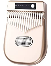 Electric Kalimba, Electric Kalimba 17 Keys Thumb Piano 4 Kinds of Timbre BT Connetion Mbira Finger Piano Electronic Musical Instrument Gifts for Kids Adults Beginners and Music Lovers