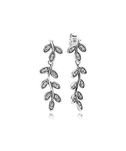PANDORA - Boucles d'Oreilles Pendantes Feuilles Étincelantes PANDORA 290565CZ