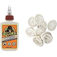 Gorilla Wood Glue, 4 oz. with 12 Disposable Finger Cots