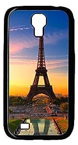 Brian114 Samsung Galaxy S4 Case, S4 Case - Black Hard PC Cases for Samsung Galaxy S4 I9500 Eiffel Tower Shadow Ultra Fit for Samsung Galaxy S4 I9500