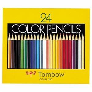 (まとめ) トンボ鉛筆 色鉛筆 紙箱24色(各色1本) CQ-NA24C 1箱 【×5セット】 〈簡易梱包   B07S7WBDFS