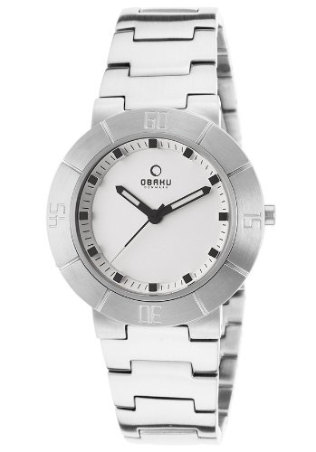 Obaku Women's Harmony Slim Sport Watch - White & Silver - V140LCISC