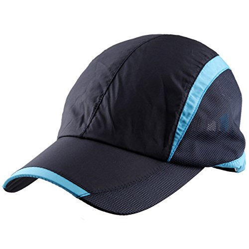 Samtree Sun Hats Women Men,Lightweight Ultra Thin Running Hat Baseball Cap(Style 1-Black)