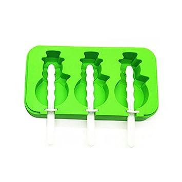 Flower205 - Molde de silicona flexible y duradero para congelación sin mensajes y fácil limpieza 3 modelos ...