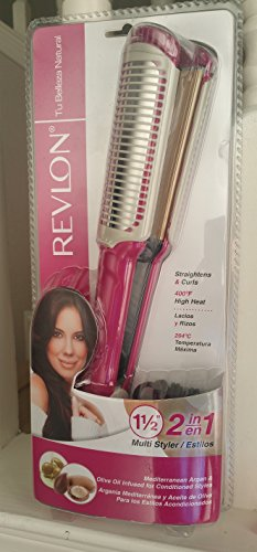 Price comparison product image Revlon Tu Belleza Natural 1.5 inches 2 in 1 Multi Styler Straightening and Curling Iron