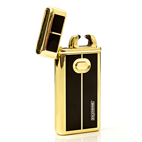 60% off end soon, Hurry, Best 2016 USB plazmatic Electric Rechargeable Arc Lighter, Enji Prime, spark At The Push Of a Button, Flameless, Windproof, Eco Friendly & Energy Saving, Electronic Cigarette (What To Put Into A Care Package)